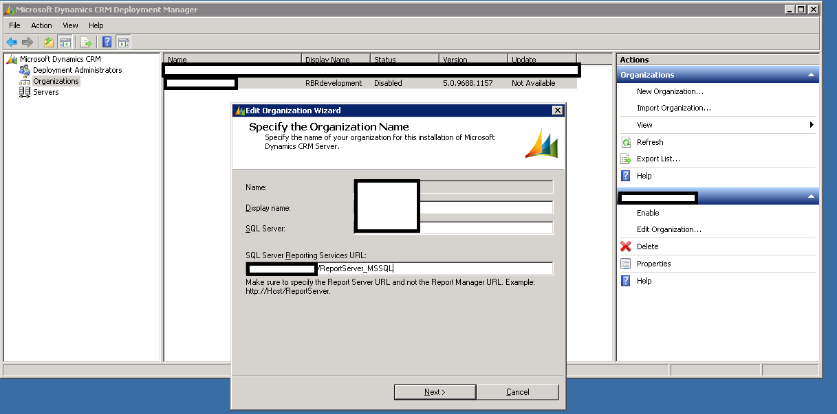 Ryan Jones - CRM2011 Reports - Error occurred while fetching the